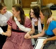 Four March Sisters Rehearsing for Little Women