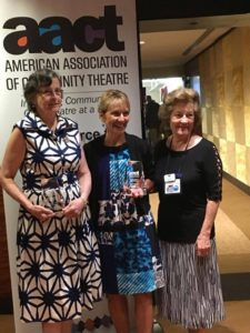 Susan Tucker (left) and Celia Couture (center) receive their AACT awards from Mass. AACT representative, Bevy Lord (right)